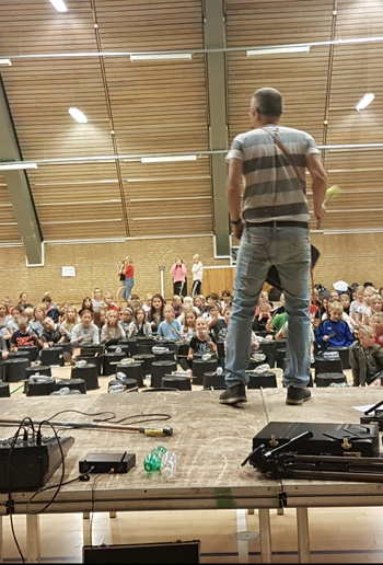 Anders Bo stomper med 500 børn i Sønderborg